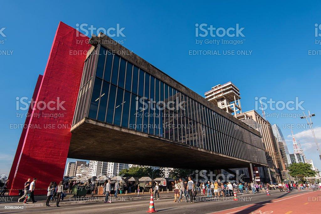 Museum of Art of Sao Paulo stock photo