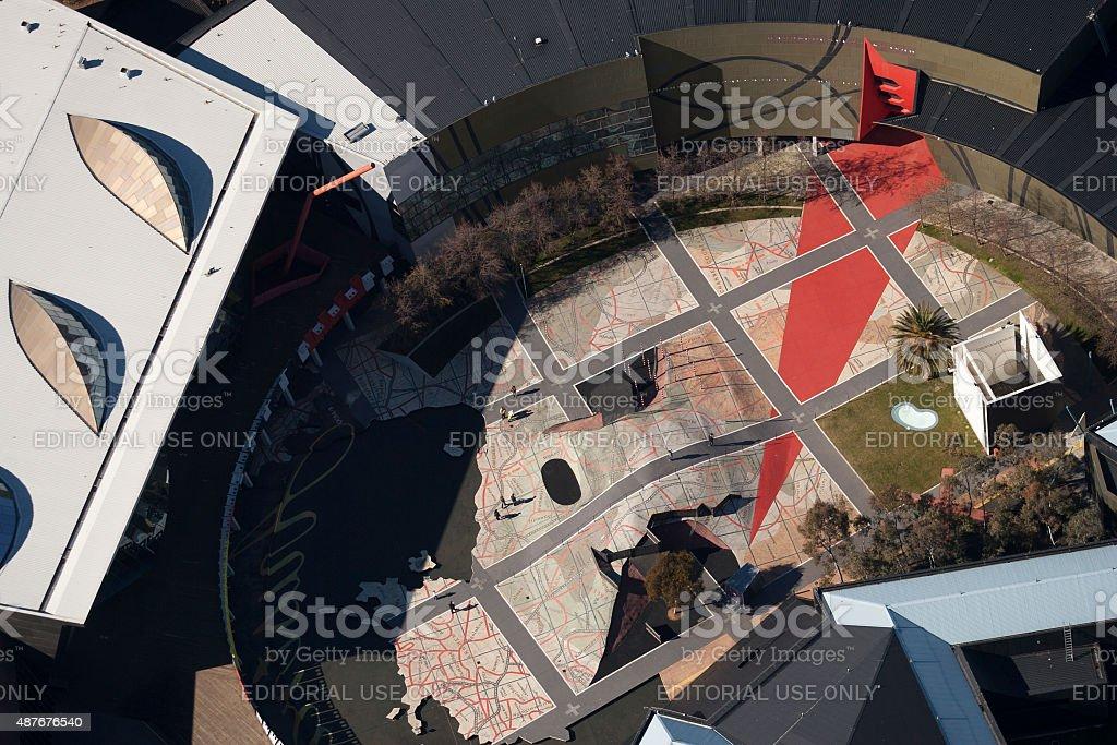 Museum of Australia Canberra stock photo