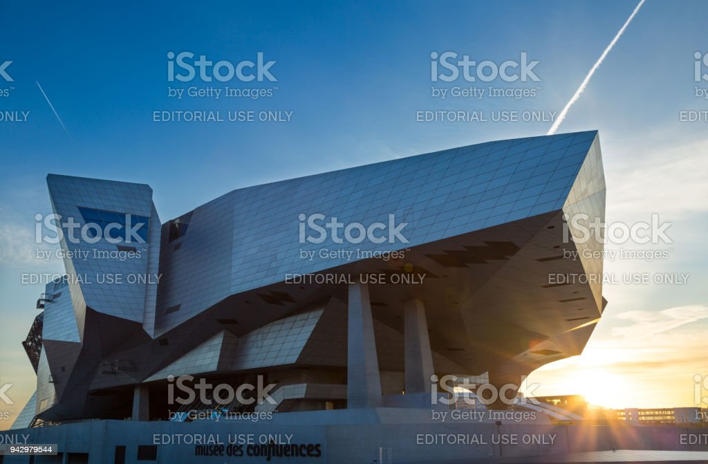 Musee des Confluences stock photo