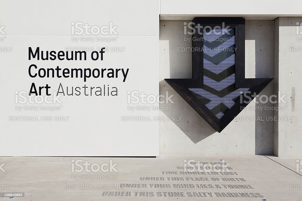 Museum of Contemporary Art Australia royalty-free stock photo