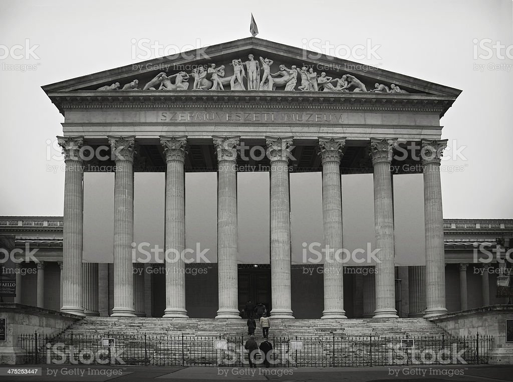 Museum of fine arts Budapest stock photo