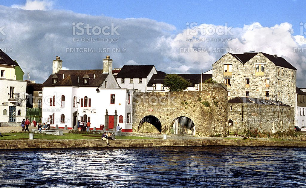Museum of Galway and Spanish Arch stock photo