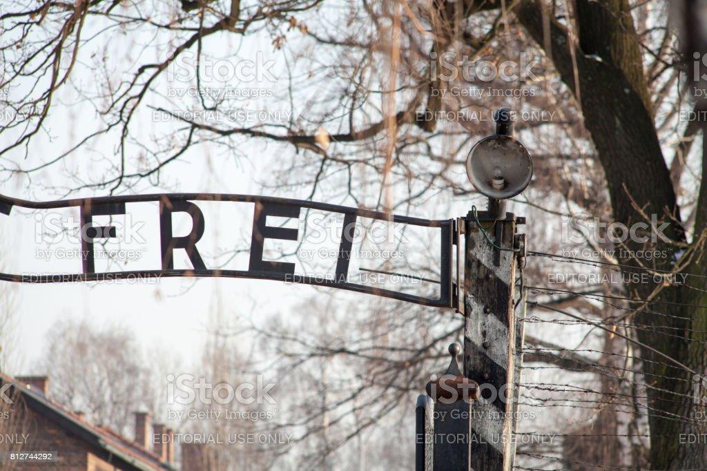 Museum Of Holocaust Auschwitz Birkenau The Inscription Above The