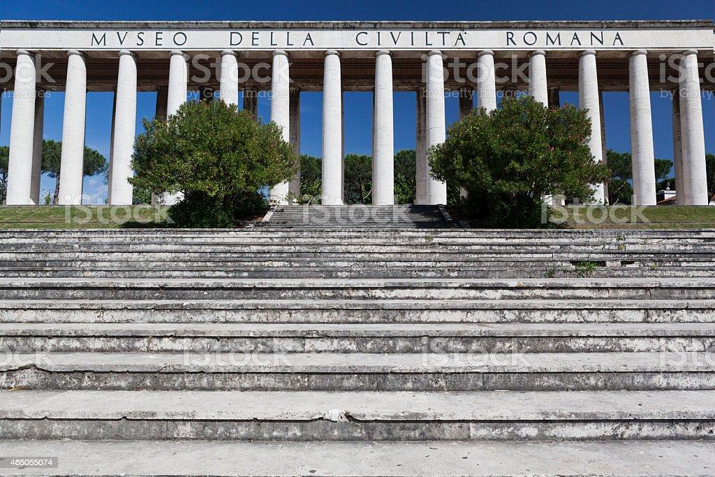 Museum of Roman civilization stock photo