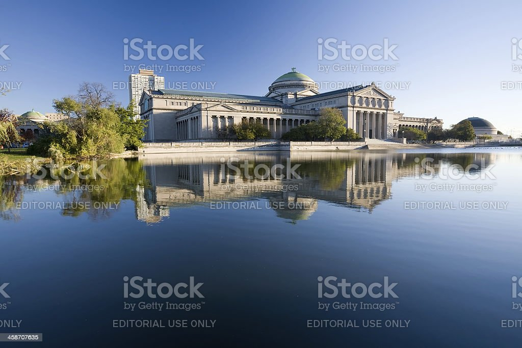 Museum of Science and Industry, Jackson Park, Chicago royalty-free stock photo