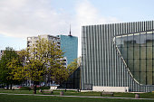 Museum of the History of Polish Jews, opened in 2013, Warsaw, Poland.
