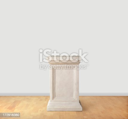 An empty pedestal in a museum. Add your own piece of artwork.Please see some similar pictures from my portfolio: