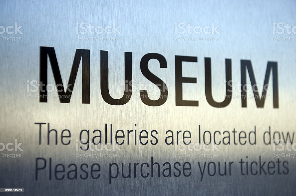 Museum sign stock photo