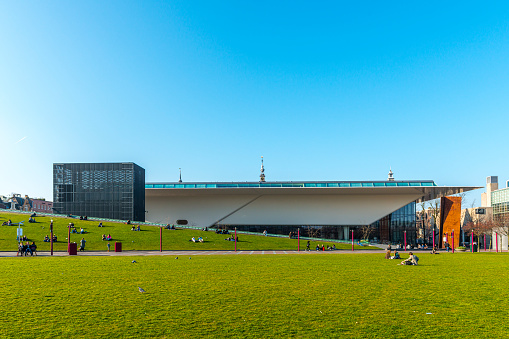 Amsterdam, the Netherlands - March 12, 2014:  Museumplein.