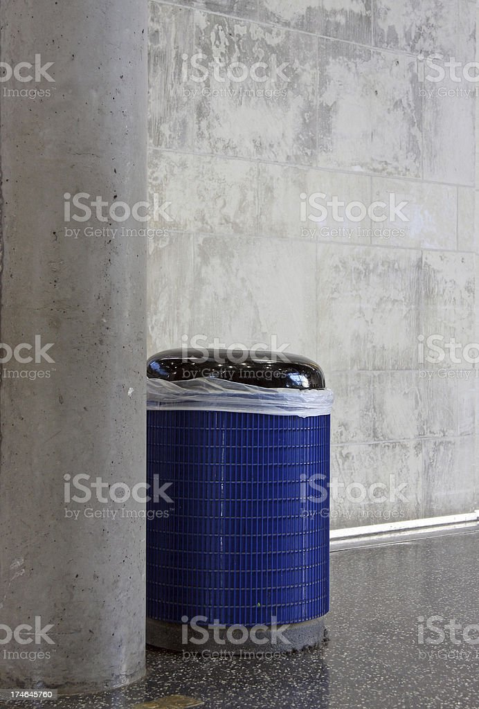 Museum Trash Can stock photo