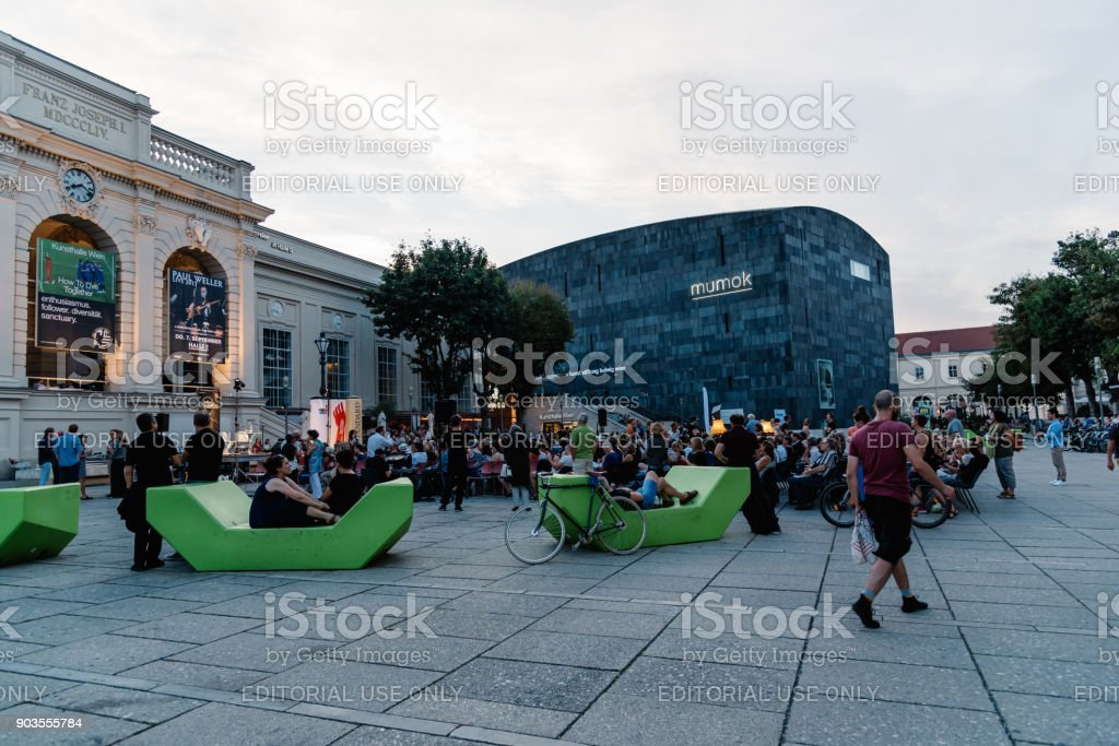 Museumsquartier in Vienna stock photo