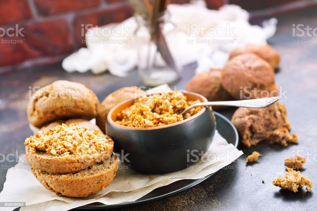 Mushroom caviar stock photo