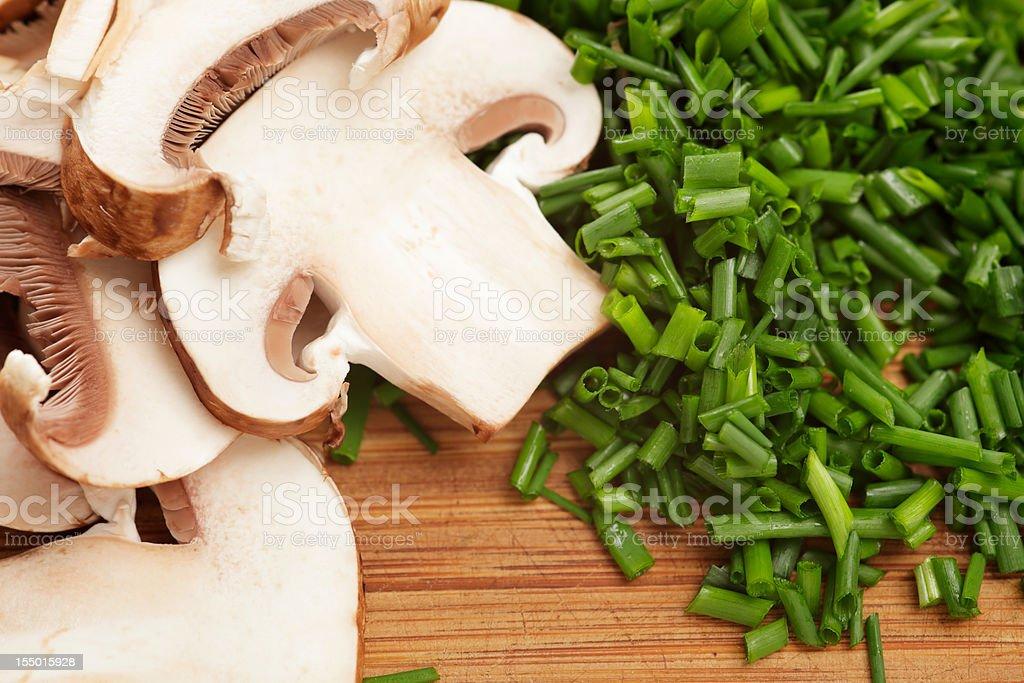 Mushroom & Chive royalty-free stock photo