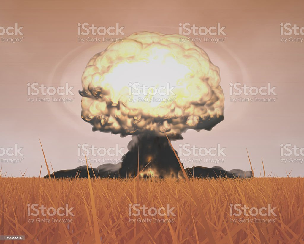 Mushroom Cloud of Nuclear Explosion stock photo