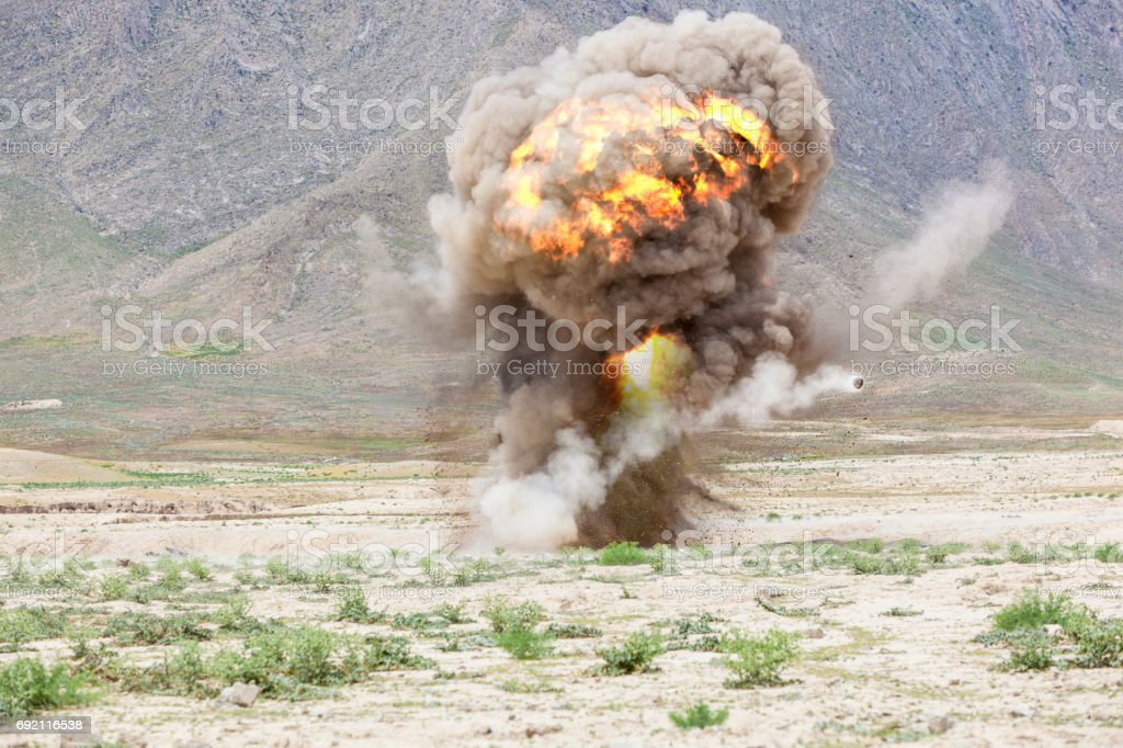 Mushroom explosion stock photo
