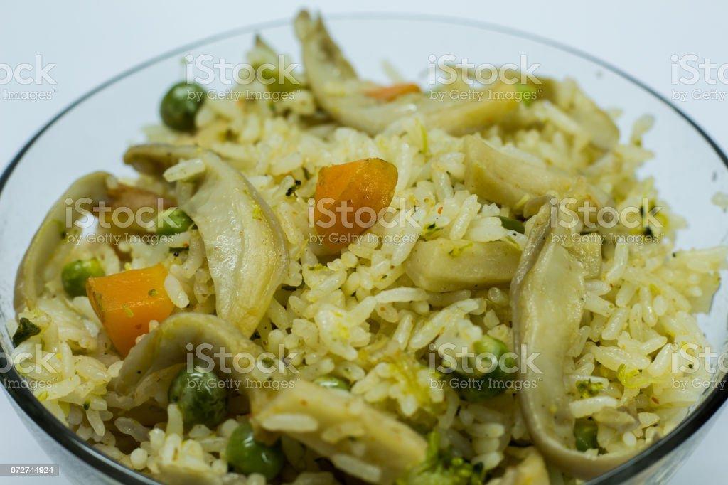 Mushroom Fried Rice stock photo