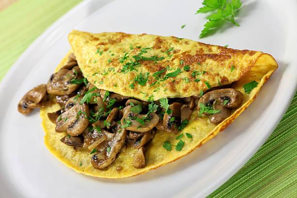 Mushroom Omelet stock photo