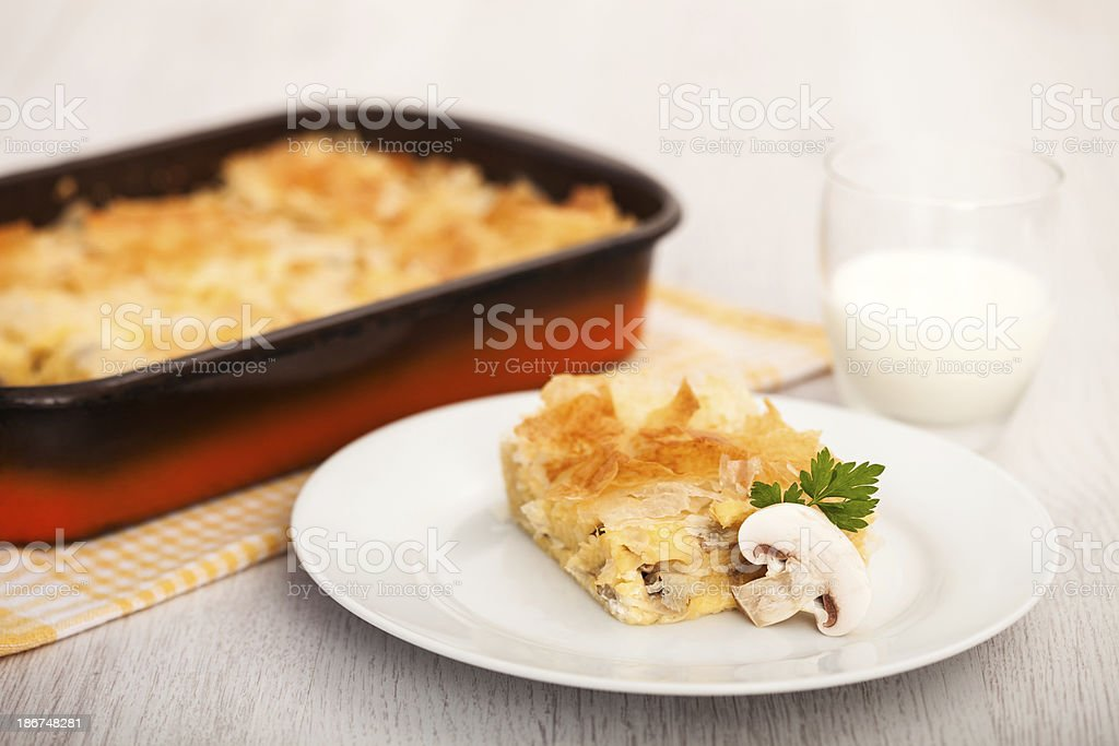 Mushroom Pie royalty-free stock photo