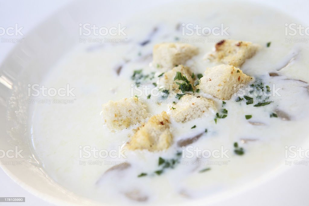 mushroom soup royalty-free stock photo