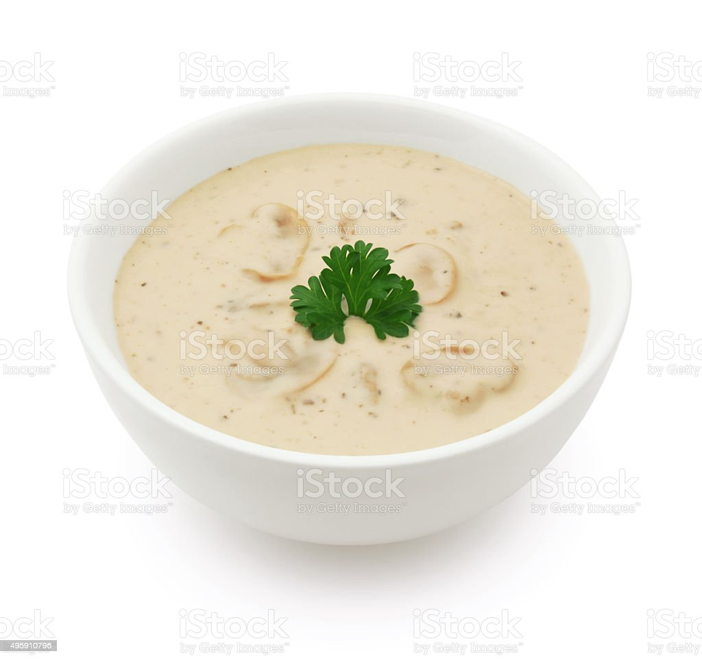 Mushroom Soup (with path) stock photo