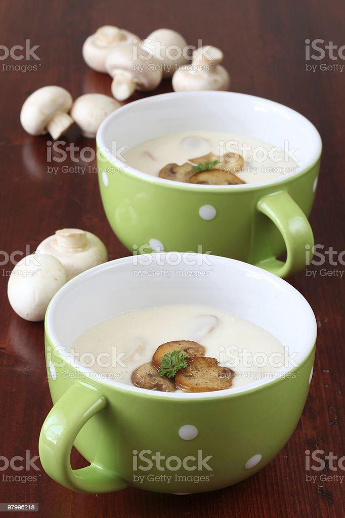 Mushroom soup royalty-free stock photo