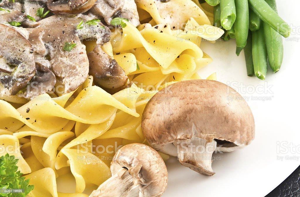 Mushroom Stroganoff royalty-free stock photo