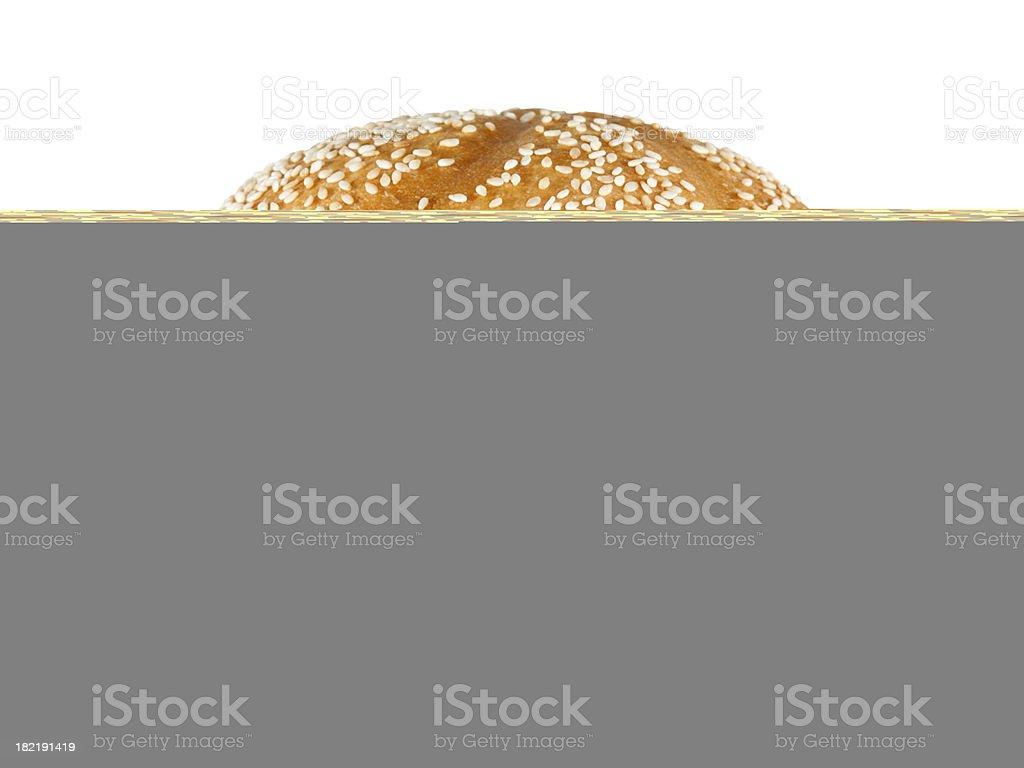 Mushroom Swiss Burger royalty-free stock photo