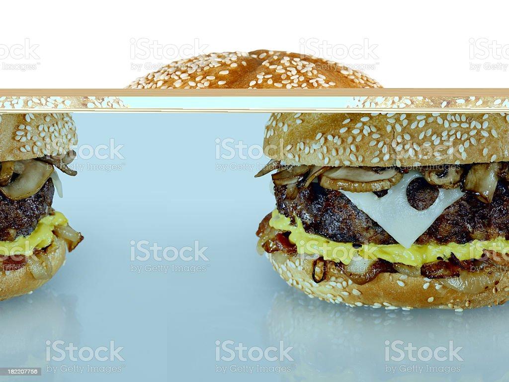 Mushroom Swiss Hamburger royalty-free stock photo