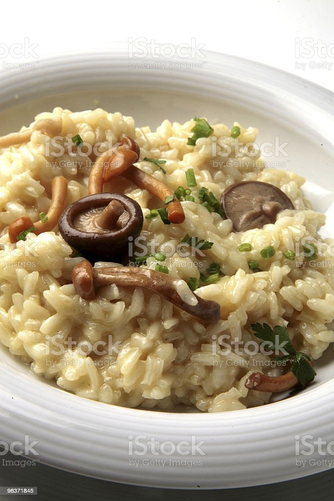 mushrooms risotto royalty-free stock photo