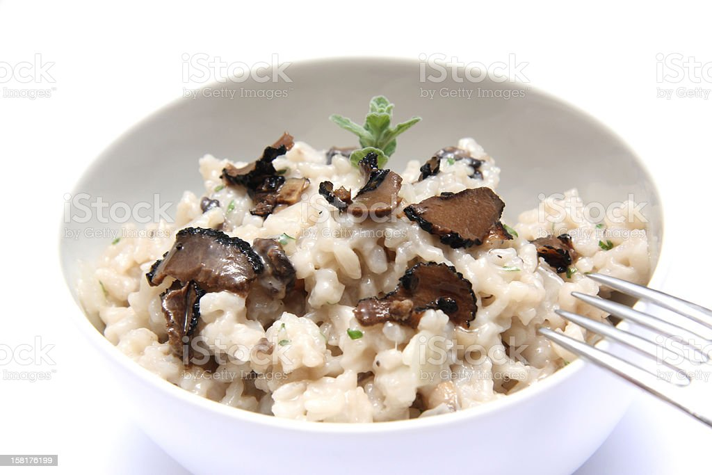 Mushrooms risotto with truffles royalty-free stock photo
