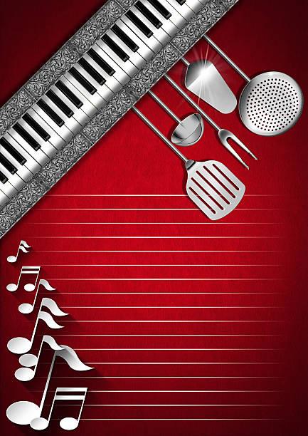 Music and Food - Menu Design stock photo