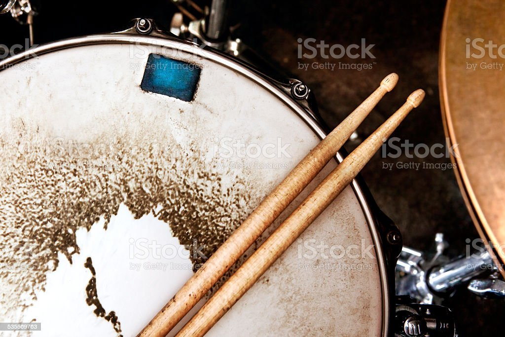 Music and instrument background stock photo