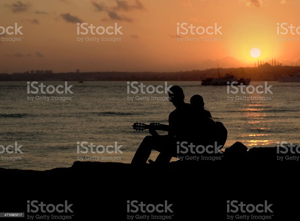 Music and Istanbul royalty-free stock photo