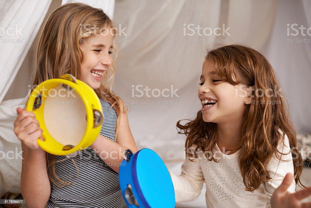 Music and joy stock photo