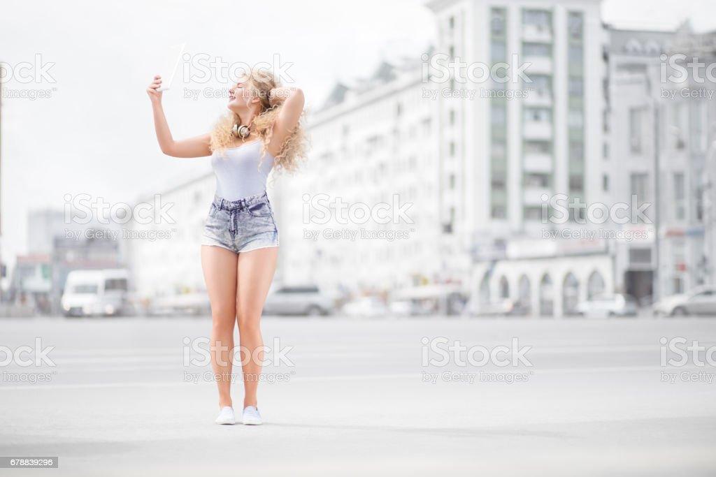 Müzik ve selfie. royalty-free stock photo