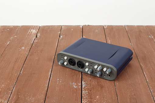 Music And Sound Audio Interface Sound Card Stock Photo - Download Image Now  - iStock