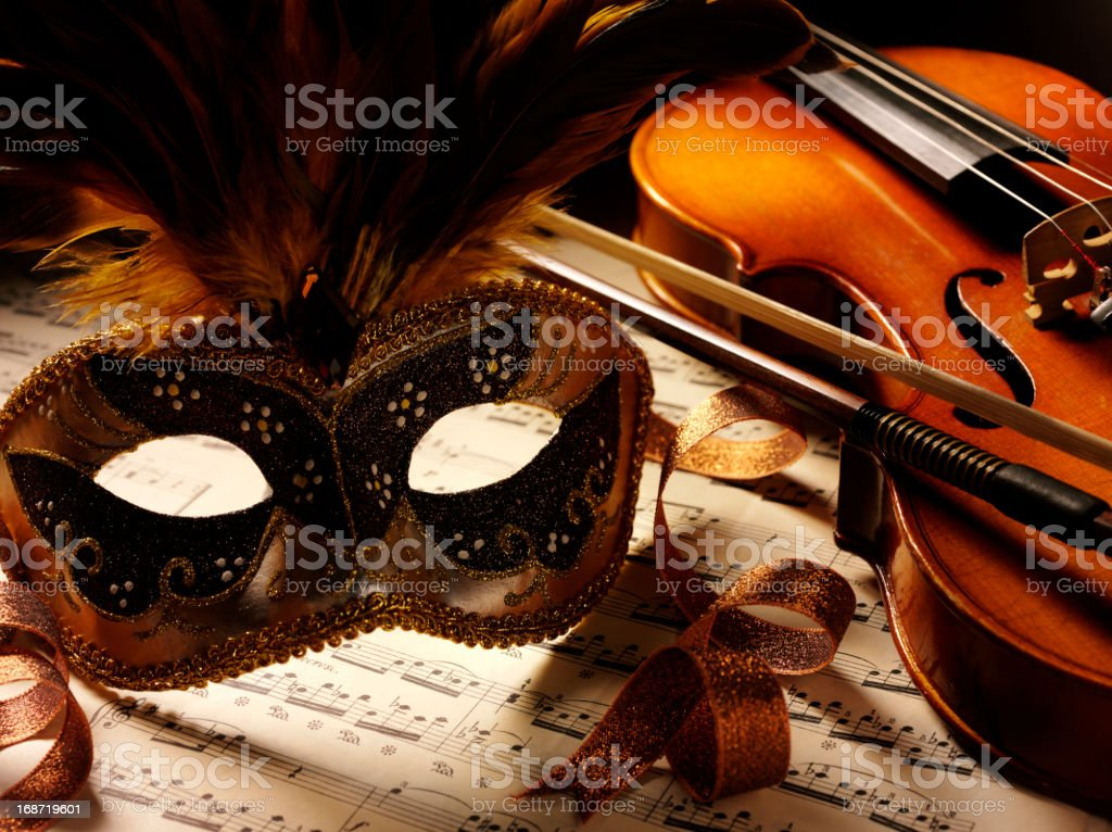 Music and Violin at the Theatre stock photo