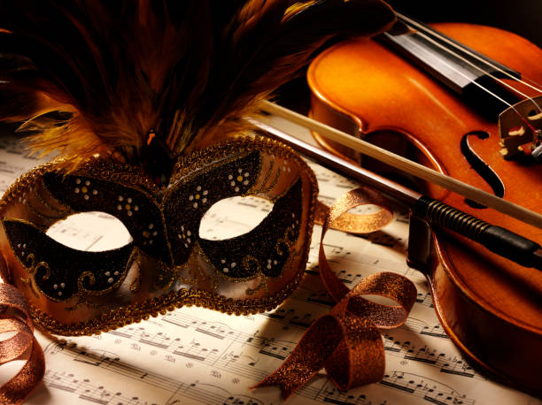 music and violin at the theatre - opera stock photos and pictures