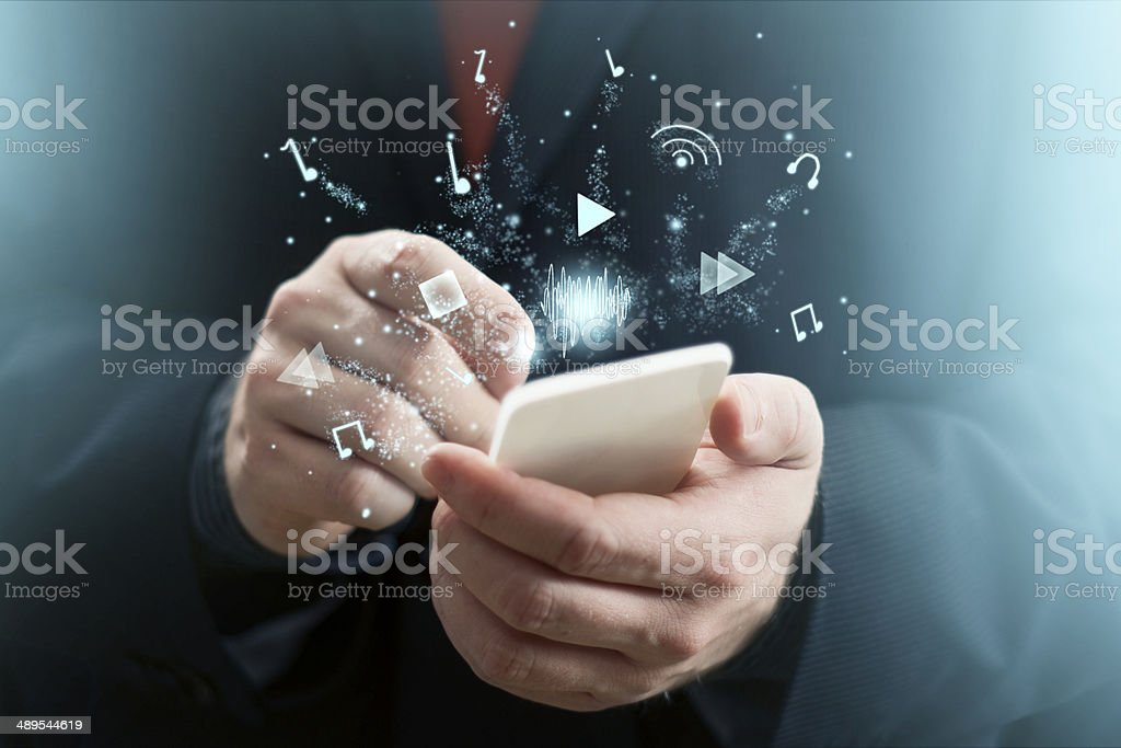 Music App stock photo