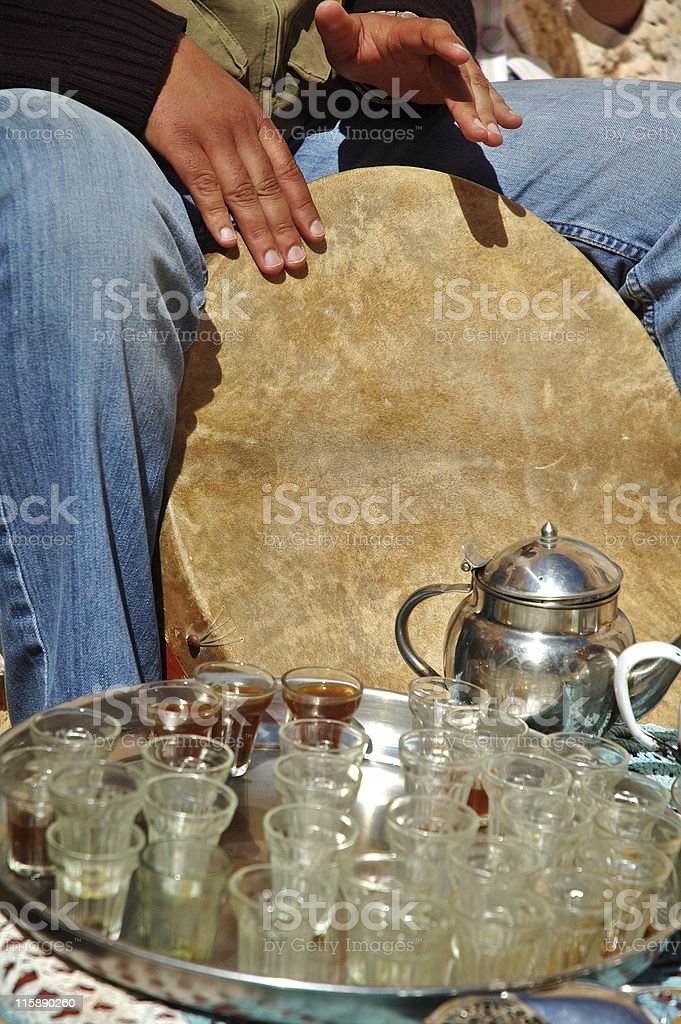Music at tea time stock photo