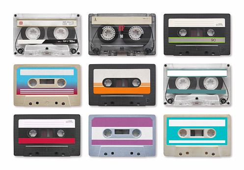 Music Audio Tape Vintage Stock Photo - Download Image Now