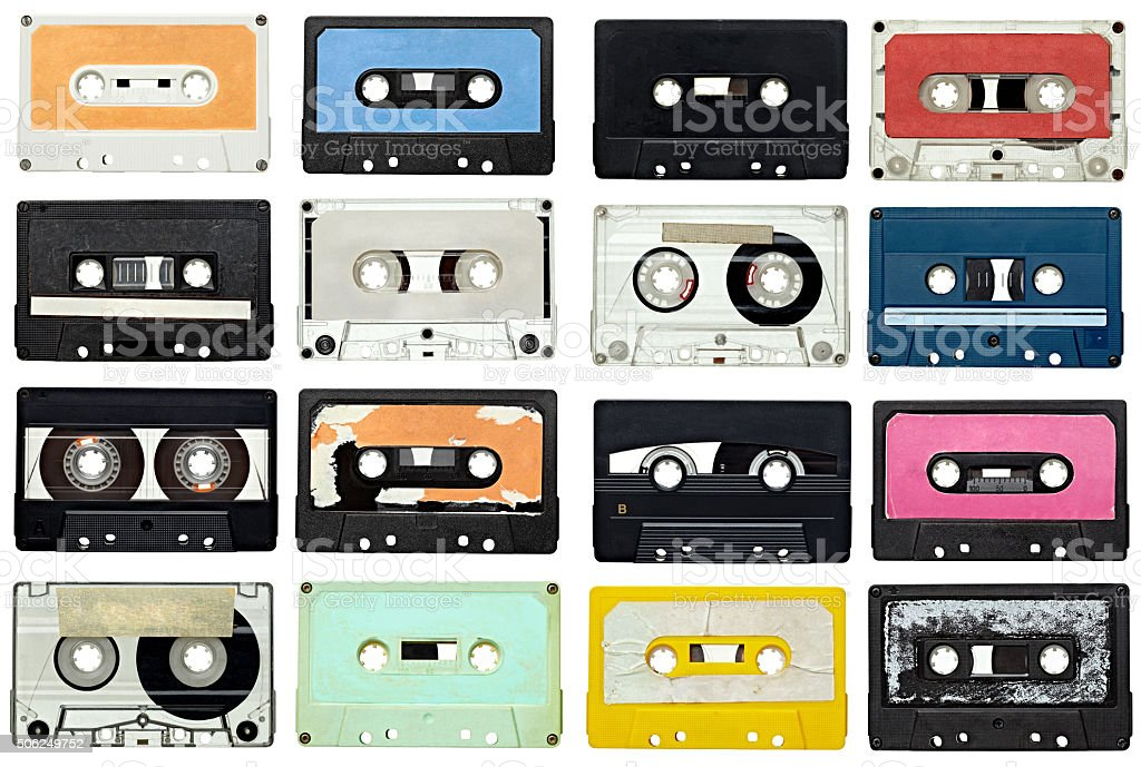 music audio tape vintage bildbanksfoto
