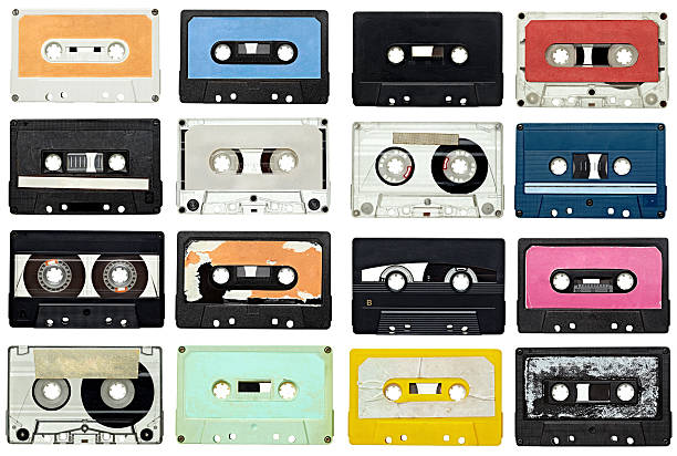 music audio tape vintage - vintage stock photos and pictures