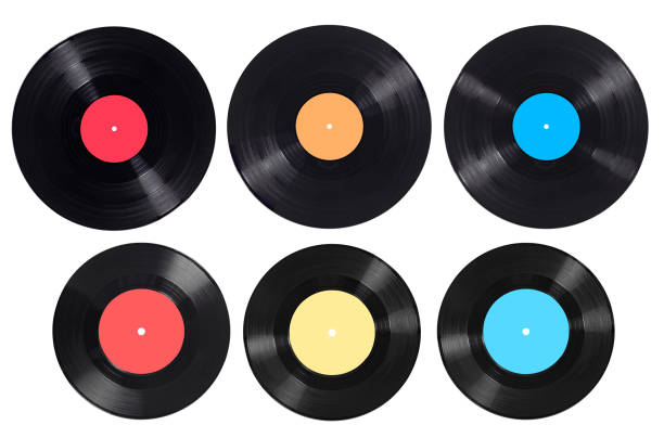 music audio tape vynil vinyl vintage - records stock pictures, royalty-free photos & images