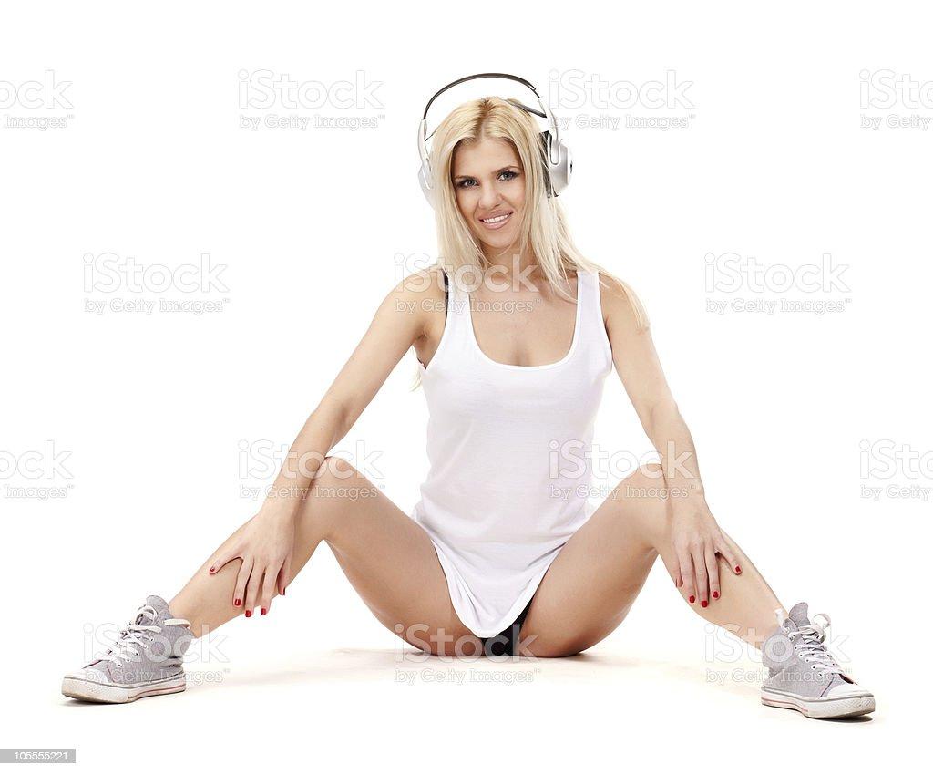 Music babe royalty-free stock photo