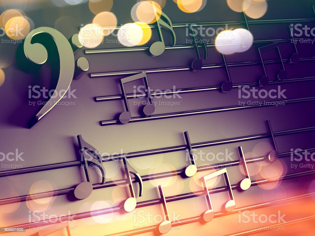 Music Background Designmusical Writing And Christmas Carol Stock Photo Download Image Now Istock