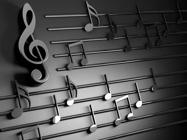 Music background design.Musical writing and Christmas carol stock photo