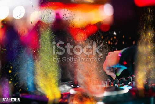istock Music Background DJ Night Club Deejay Record Player Retro 625147546