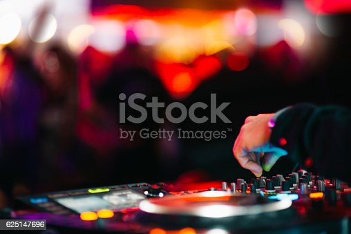 istock Music Background DJ Night Club Deejay Record Player Retro 625147696