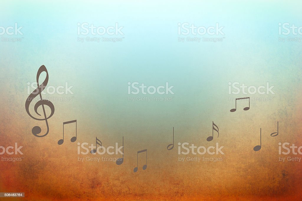 Music background with notes stock photo